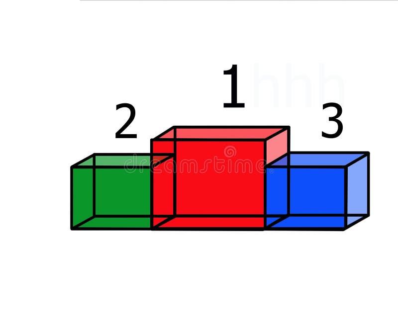 Download Pedestal achievements stock illustration. Image of construction - 9143051