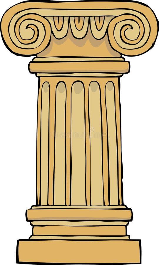 Pedestal de la columna ilustración del vector