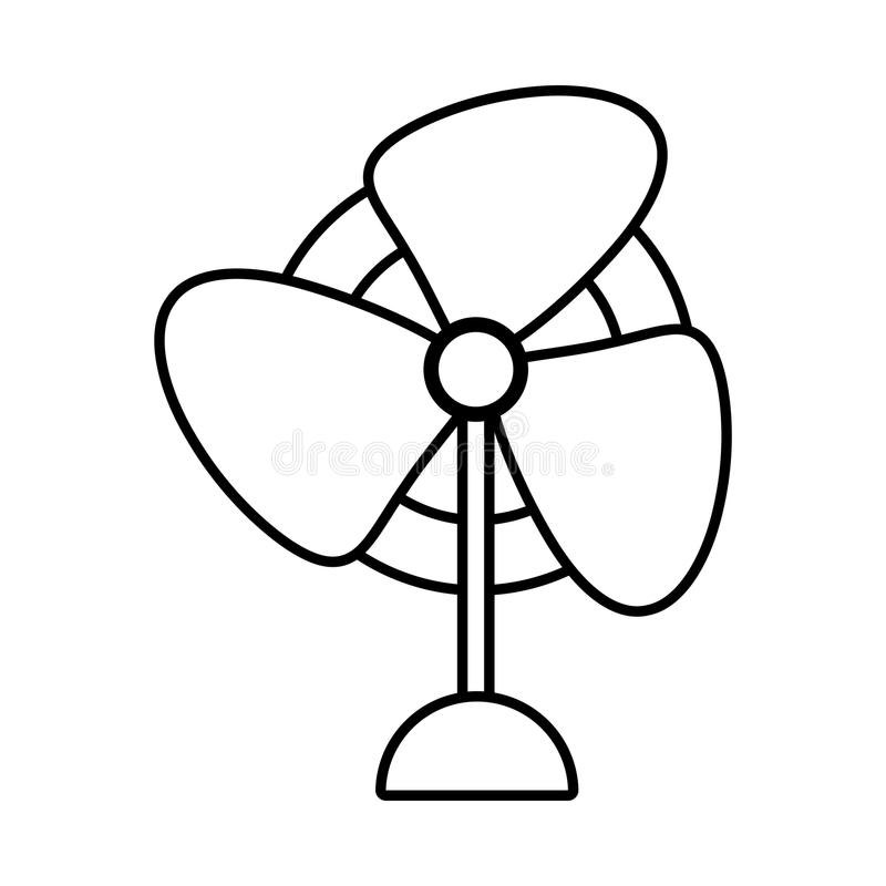 pedestal fan electronic domestic appliance outline stock