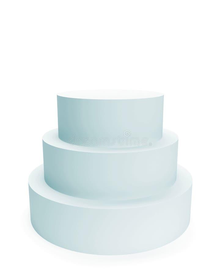 Pedestal Isolated on White vector illustration