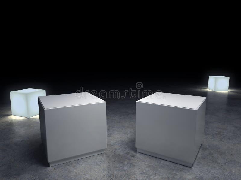 Pedestal vacío ilustración del vector