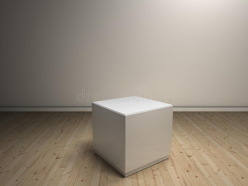Pedestales blancos para colocar el producto ilustración del vector