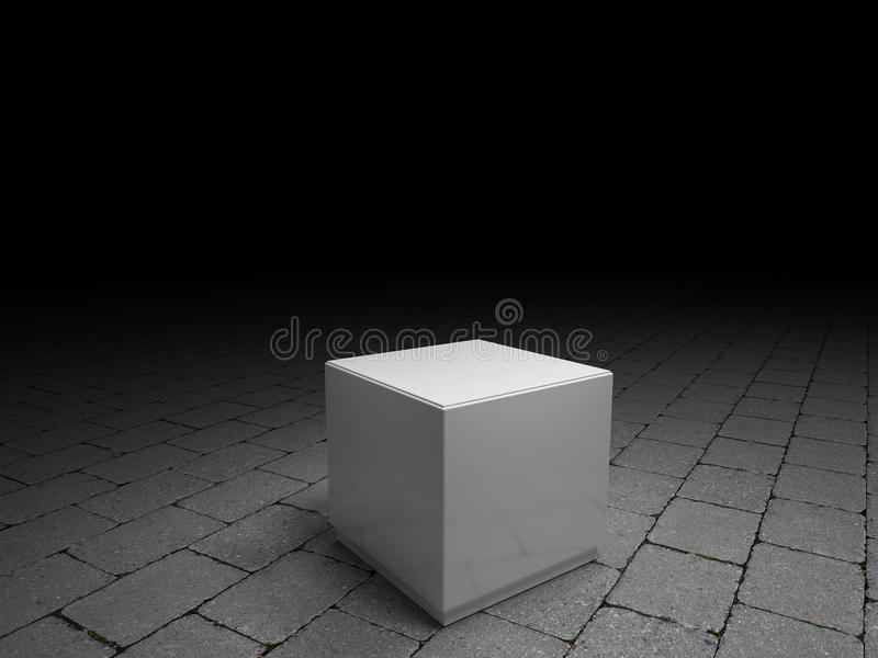 Pedestales blancos para colocar el producto libre illustration