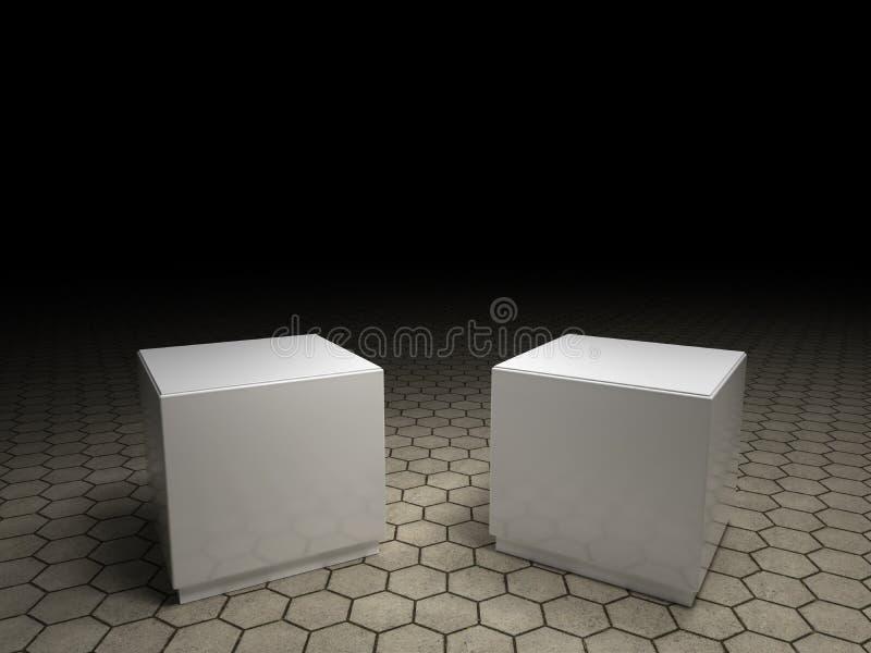 Pedestales vacíos ilustración del vector