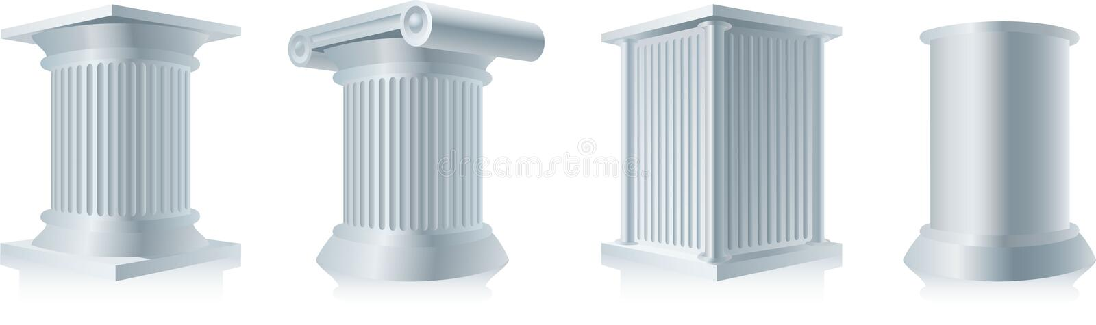 Download Pedestals stock vector. Image of image, gray, past, pedestal - 17360576