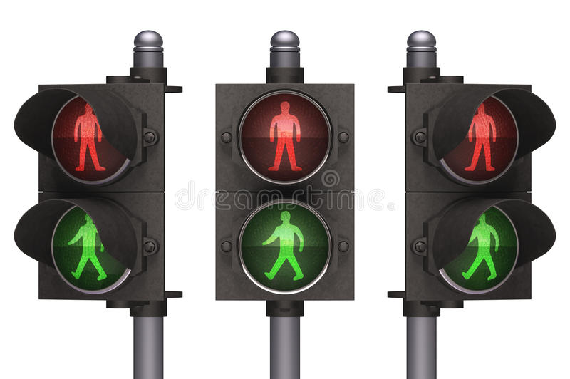 Pedestre Do Sinal Fotos de Stock Royalty Free