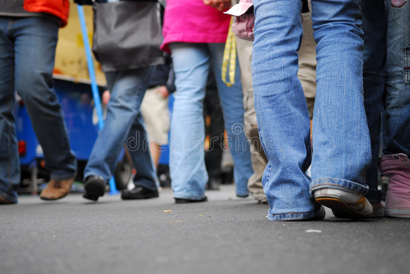 Pedestrian 2. Action, active, german, behind, body, city, cross, crossing, crowd, feet, feets, foot, foots, friend, friends, going, group, human, humans, jeans stock photography