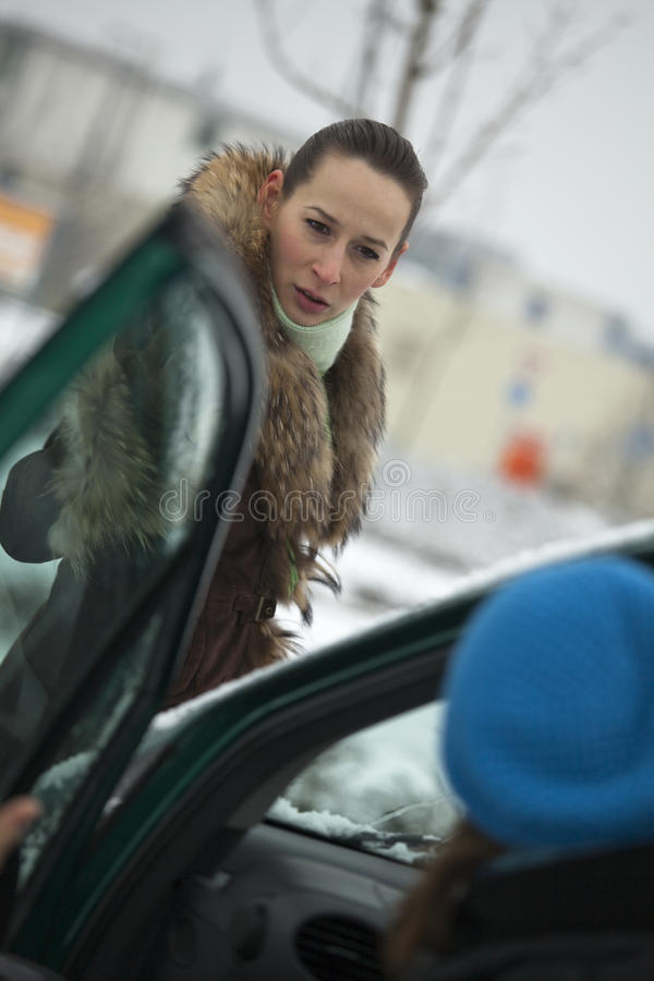 Download Pedestrian Argues With Car Driver Stock Photo - Image: 12374240