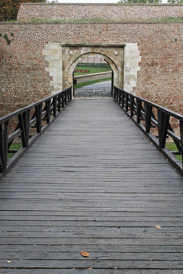 Download Pedestrian bridge stock image. Image of castle, pedestrian - 28458037