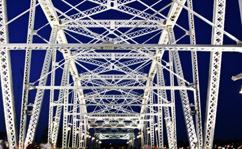 Pedestrian bridge in Nashville royalty free stock image
