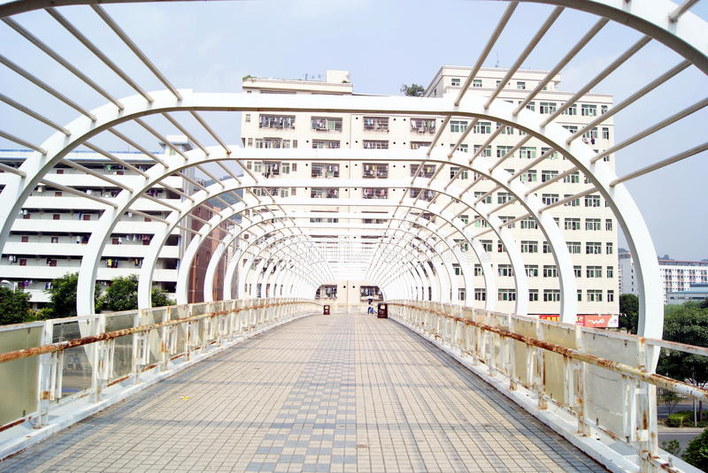 Download Pedestrian bridge stock photo. Image of building, bridge - 30773276