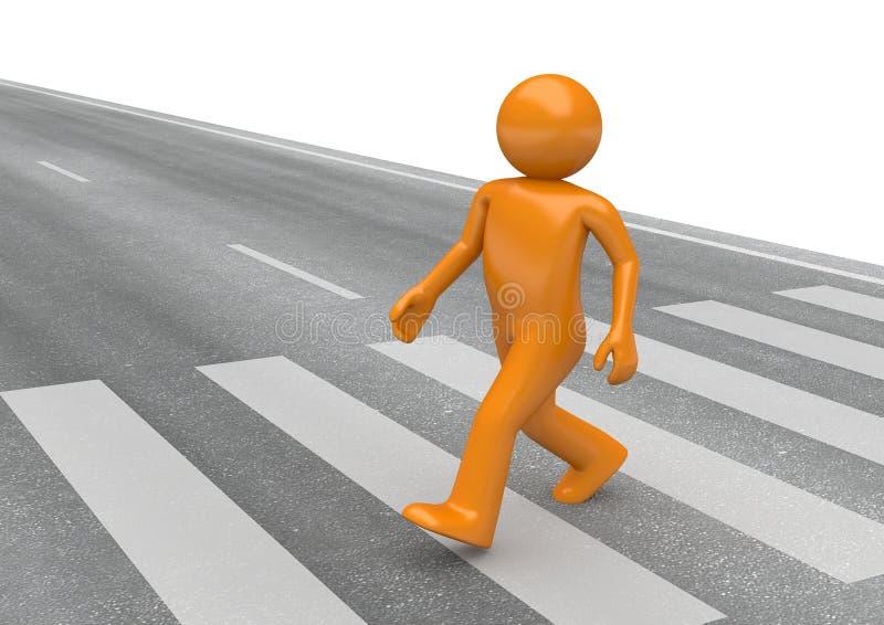 Pedestrian crossing vector illustration