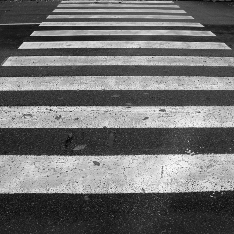 Pedestrian crossing in the city royalty free stock image