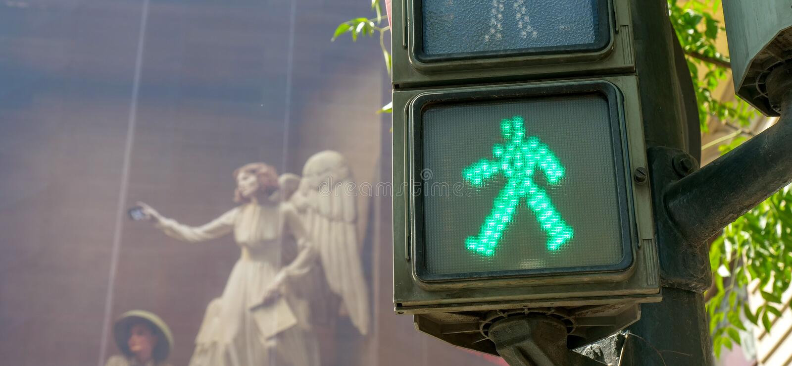Pedestrian crossing light stock images