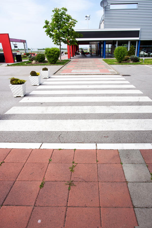 Pedestrian crossing. Near go kart track royalty free stock image