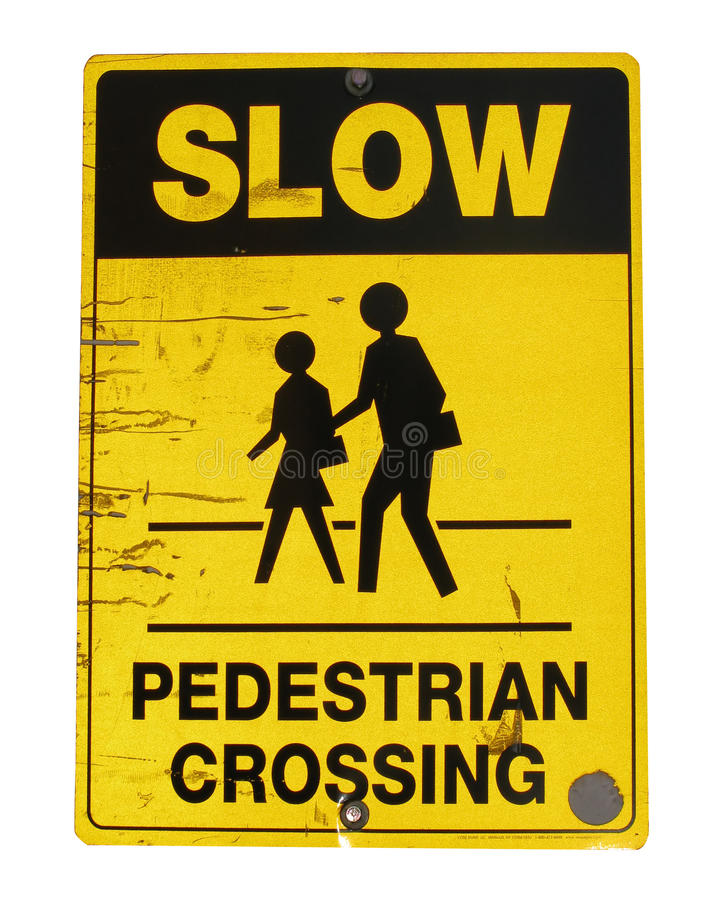 Download Pedestrian crossing sign stock photo. Image of person - 12472876