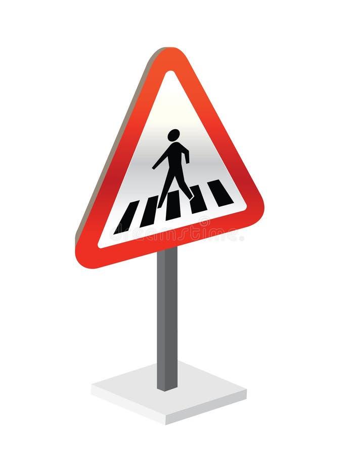 Download Pedestrian crossing sign stock vector. Illustration of pedestrian - 15456230