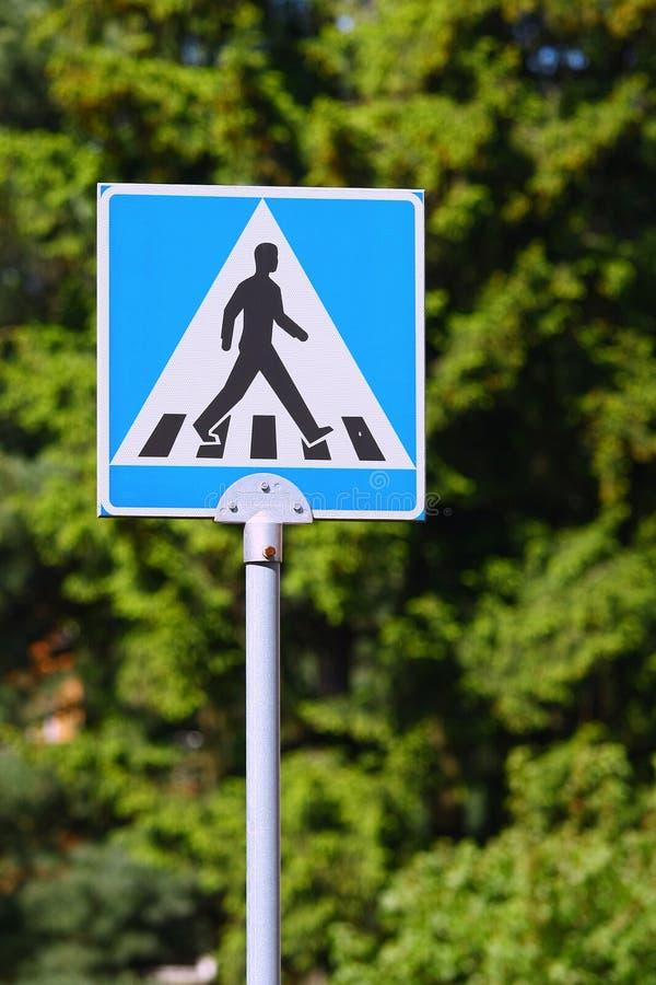 Pedestrian Crossing Sign Stock Photo