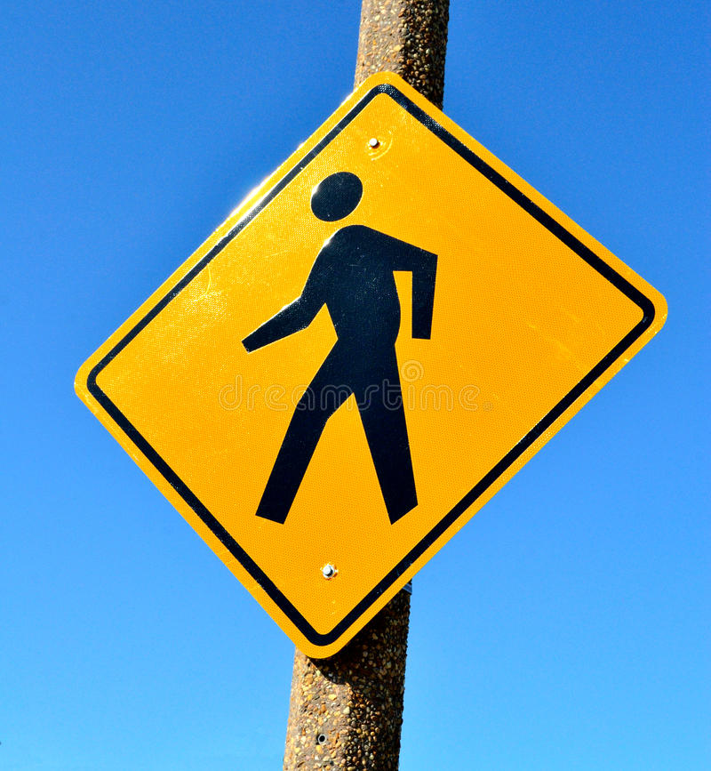 Free Pedestrian Crossing Sign Stock Photo - 25244030
