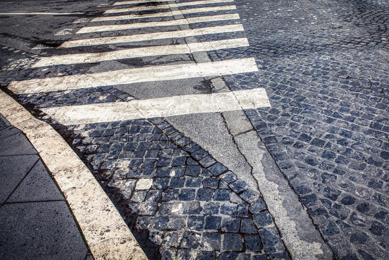 Pedestrian crosswalk royalty free stock images