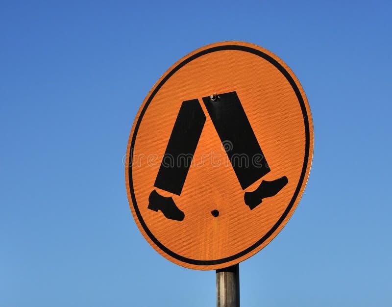 Download Pedestrian crosswalk sign stock image. Image of feet - 17030283