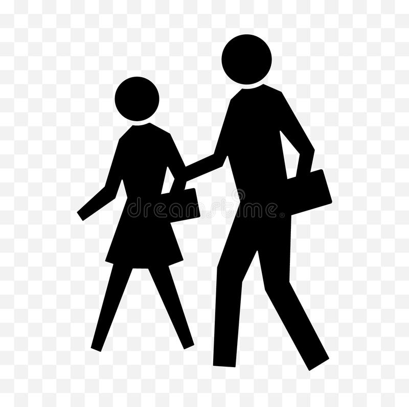 Free Pedestrian Icon Sign Royalty Free Stock Images - 112427199