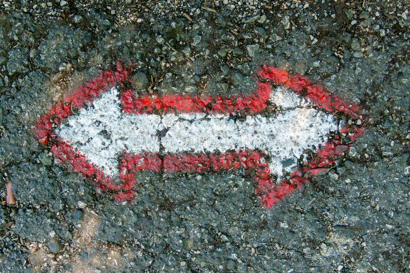 Pedestrian markings for orientation royalty free stock image