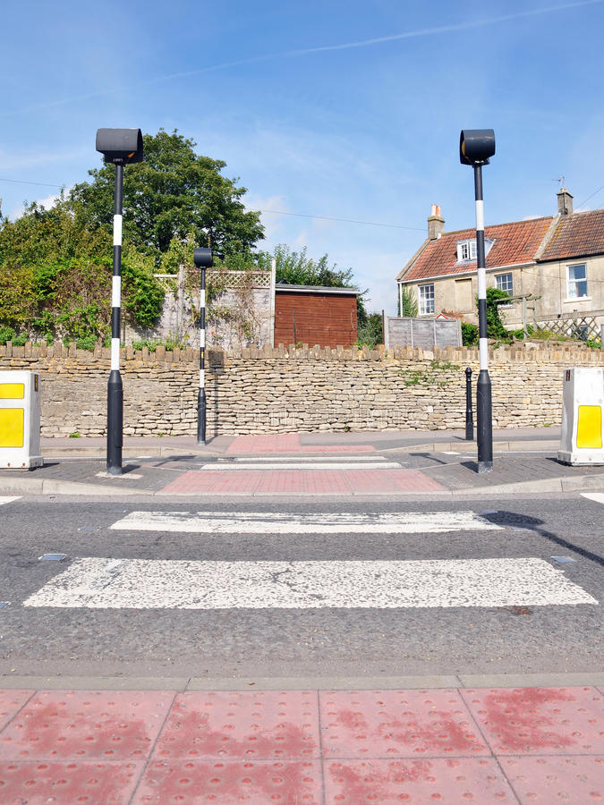 Download Pedestrian Road Crossing stock photo. Image of beacons - 26476810