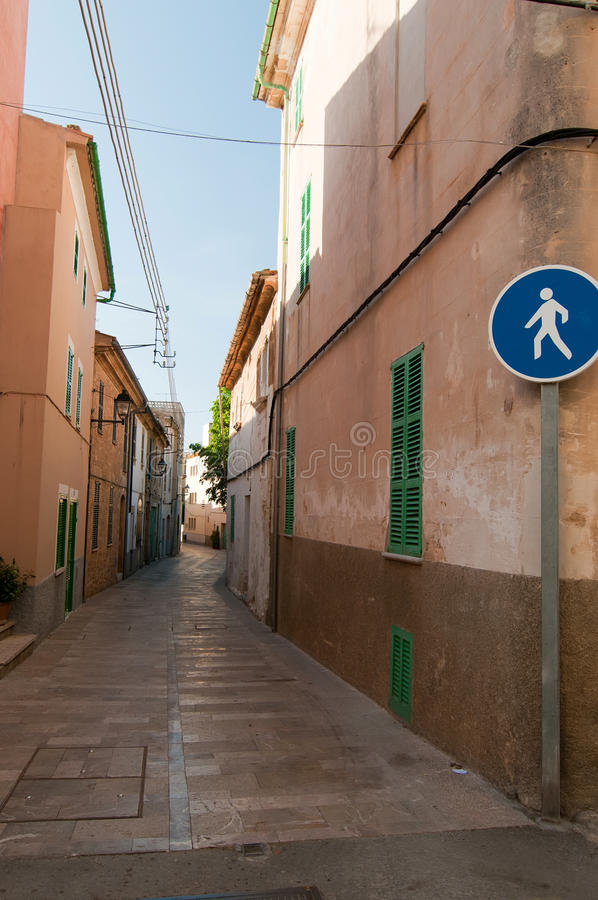Download Pedestrian Road In Usual European City Stock Photo - Image of nobody, alley: 25581450