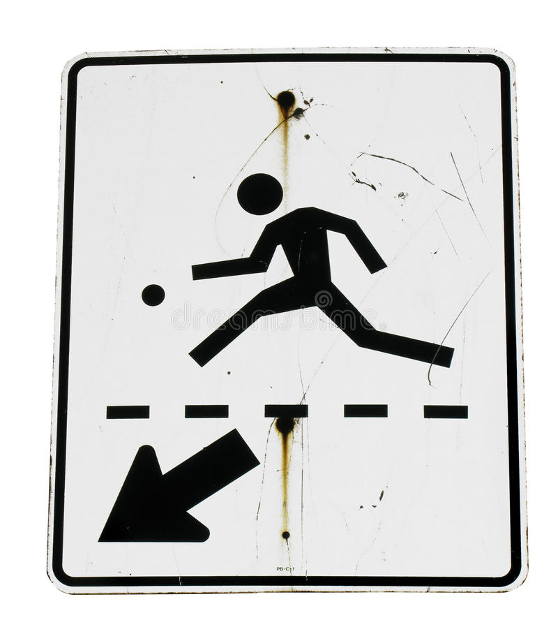 Download Pedestrian sign stock photo. Image of isolated, person - 12863668