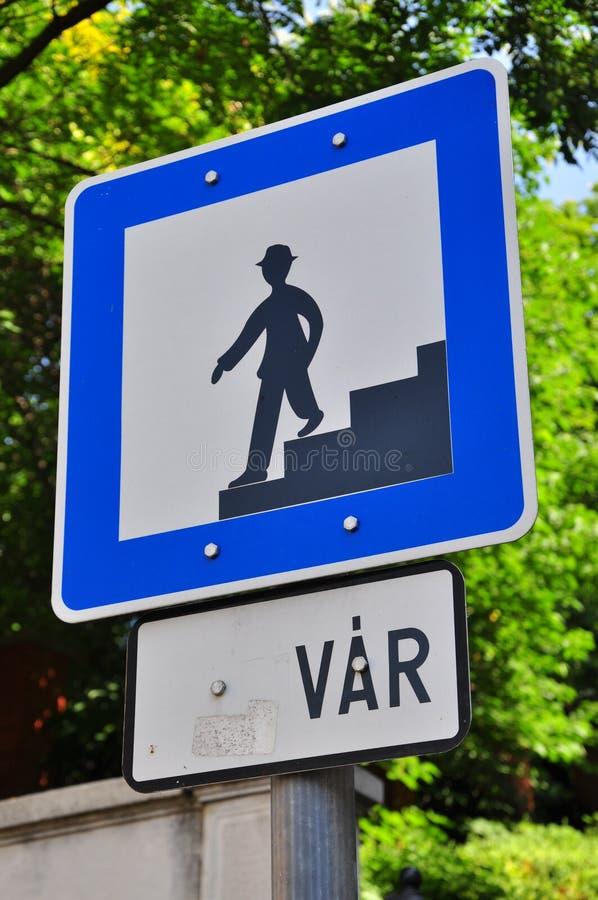 Pedestrian Sign Stock Photos