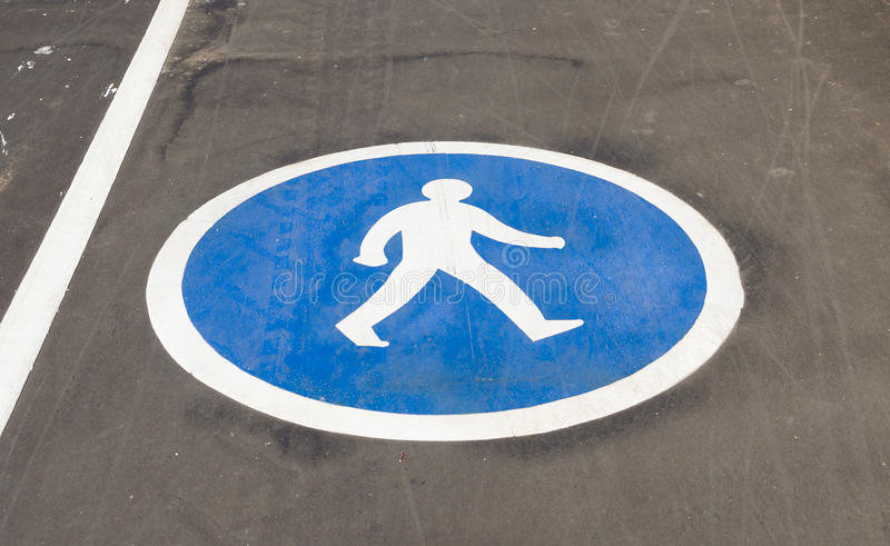 Download Pedestrian Sign On The Pavement Stock Photo - Image: 32336724
