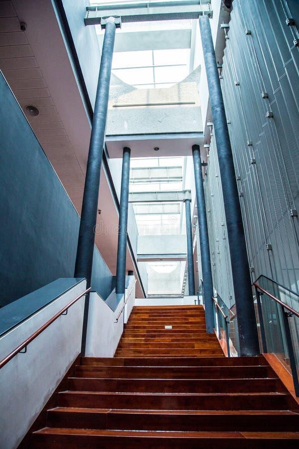 Pedestrian staircase in Guangzhou Museum, Guangdong. stock photo