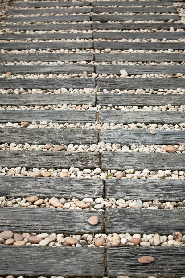 Pedestrian timber royalty free stock image