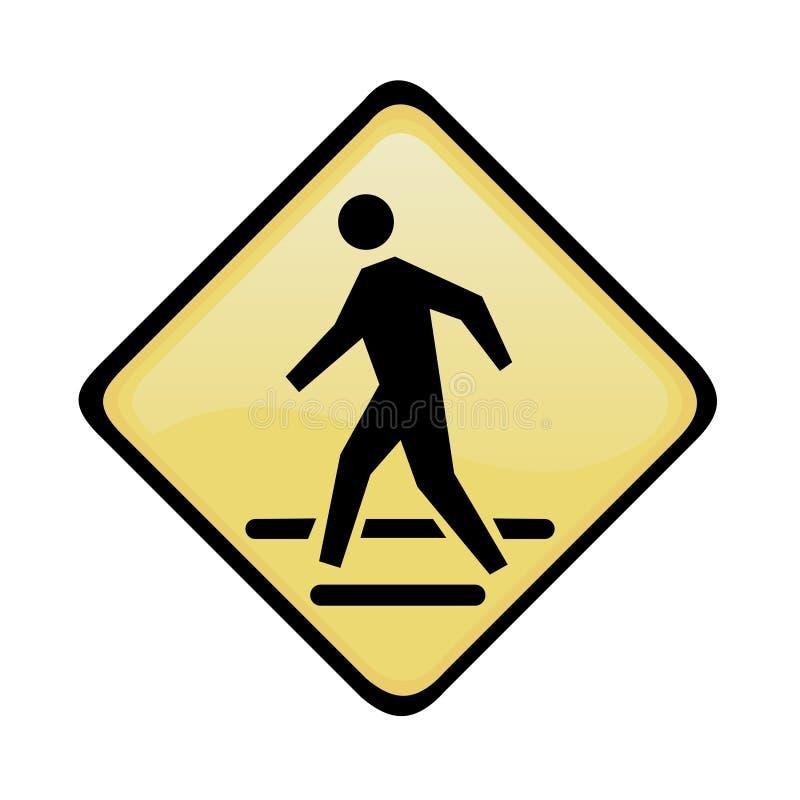 Pedestrian traffic sign royalty free illustration