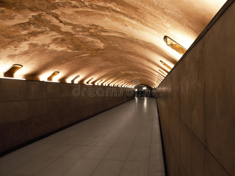 Download Pedestrian Tunnel stock image. Image of night, stone - 16385523