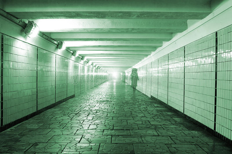 Download Pedestrian tunnel stock image. Image of grunge, light - 18352601