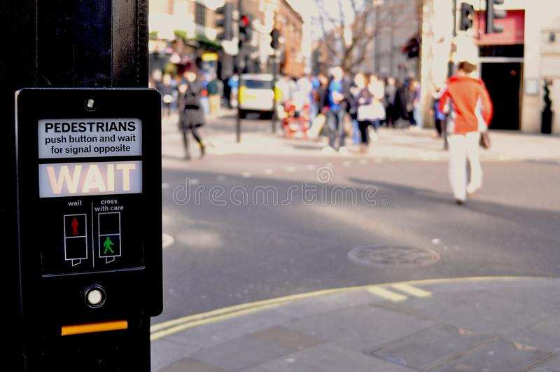 Download Pedestrian wait sign stock photo. Image of london, lamp - 24313022