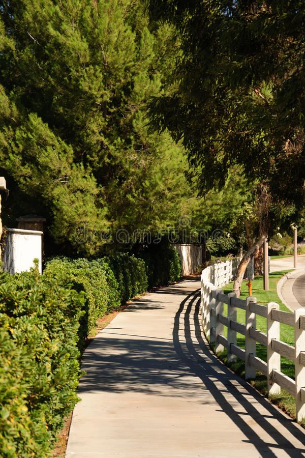 Pedestrian walkway for exercise and walk stock images