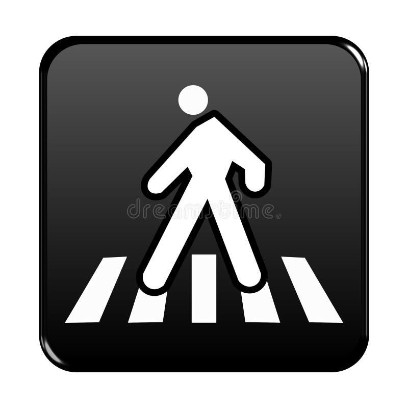 Pedestrian web button vector illustration
