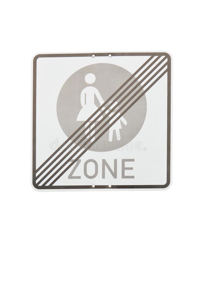 Pedestrian Zone End Sign Royalty Free Stock Images