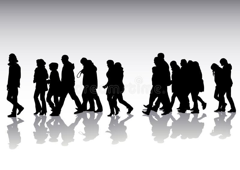 pedestrians ilustracja wektor