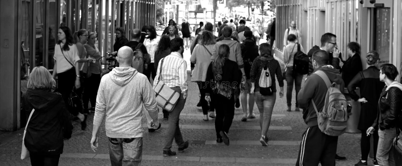 Pedestrians On City Street Free Public Domain Cc0 Image