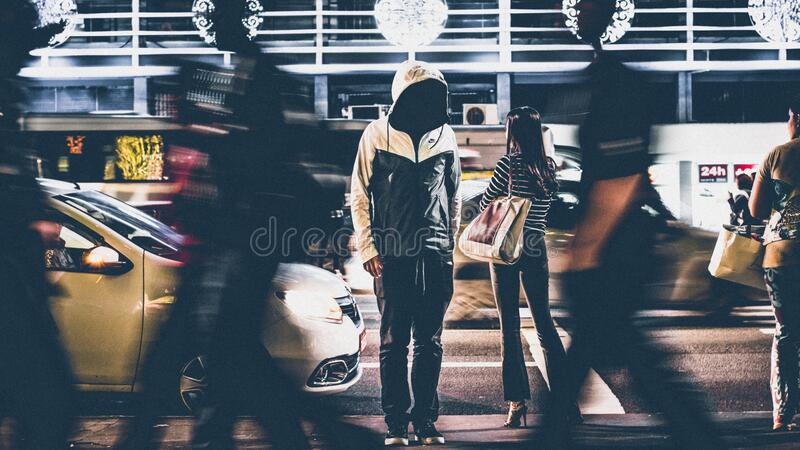 Pedestrians on city streets royalty free stock images