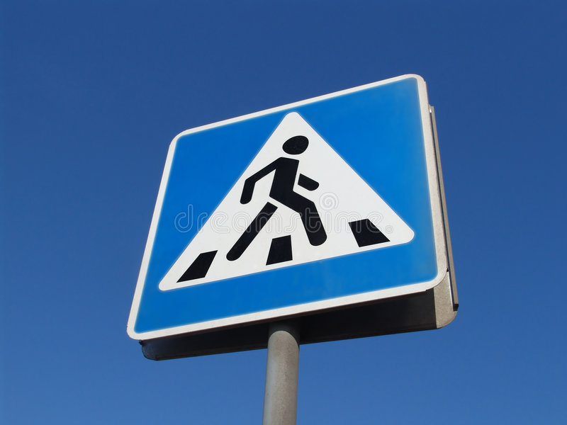 Download Pedestrians Crossing Sign Stock Photo - Image: 687870