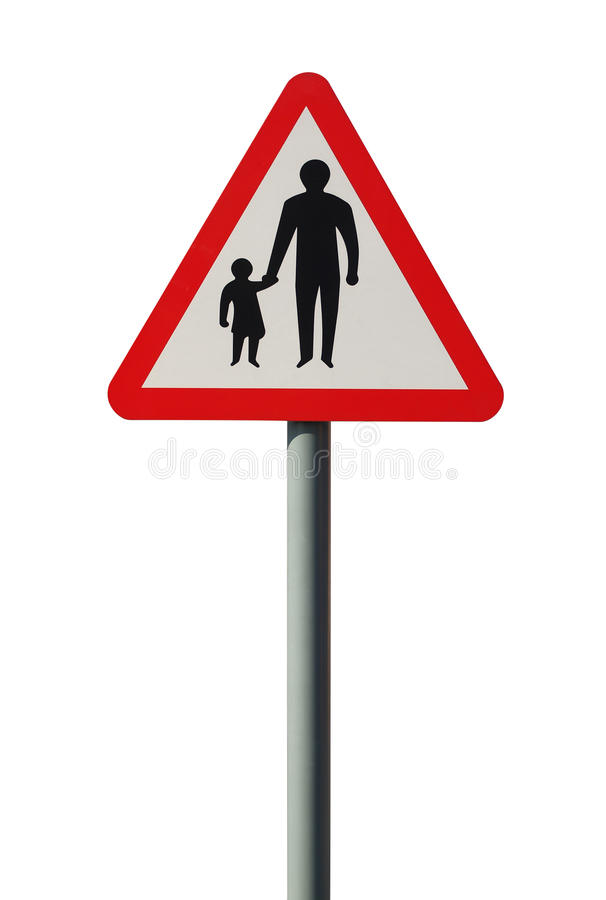 Pedestrians in the Road Warning Sign royalty free stock images