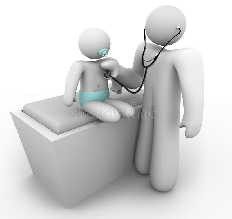 Pediater en Baby vector illustratie