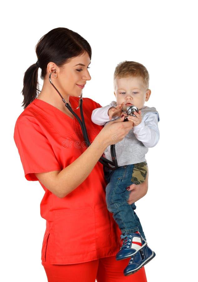 Pediater en kind royalty-vrije stock afbeeldingen