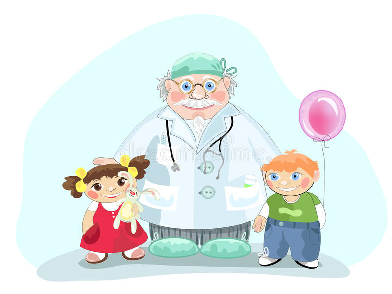 pediatra royalty ilustracja