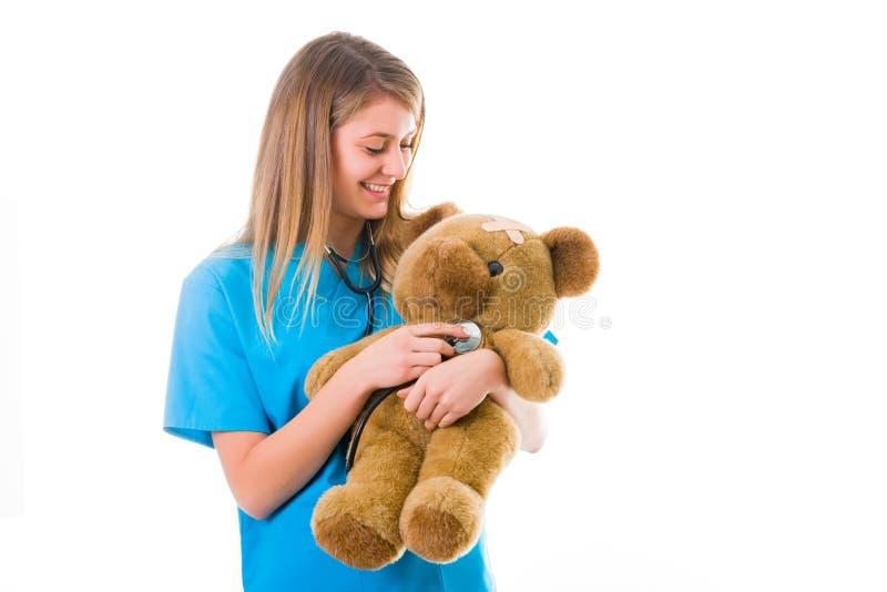 Pediatra cómodo imagen de archivo libre de regalías